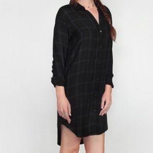 NEW Rails Bianca Shirt Dress Obsidian Black Gray